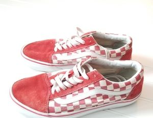 Red Checkered Vans Mens 8.5 Womens 10